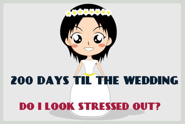 200 DAYS TIL THE WEDDING