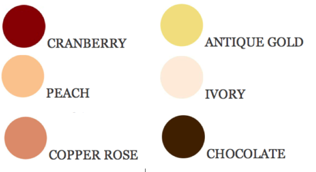 Color swatches from Perfect Palette