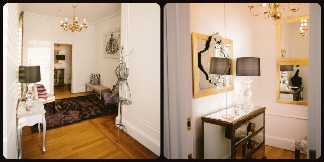 Totes adorable sitting room and entry way to the Ladies lounge